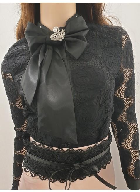 Stilvolle Bluse mit Schleife