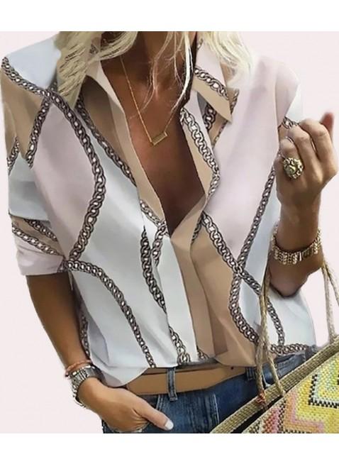 Bluse mit abstraktem Muster
