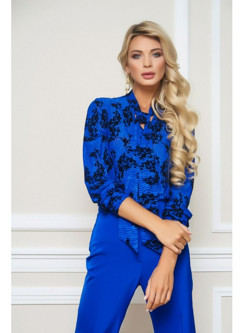 Royal- blaue  Bluse von BlueMary