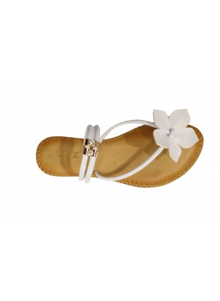 Sandaletten mit Blümchen-Applikation