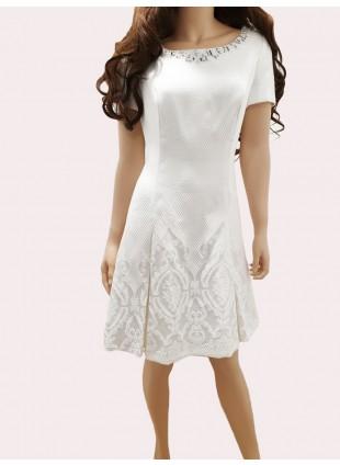 Elegantes, weißes Kleid von Balizza