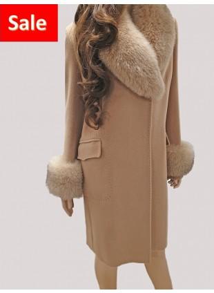 Mantel mit abnehmbarem Pelzkragen Balizza