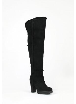 Overknee-Stiefel mit Blockabsatz