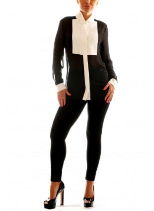 Schwarz- Weiße Bluse Hanita