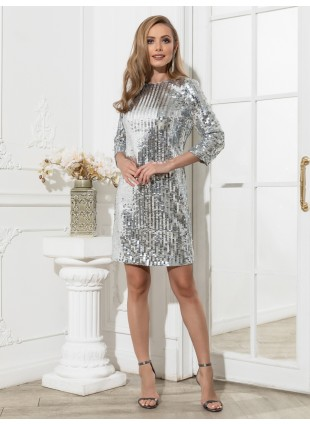 Partykleid mit Pailletten-Applikationen