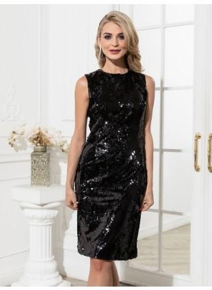 Kleines schwarzes Pailletten Kleid
