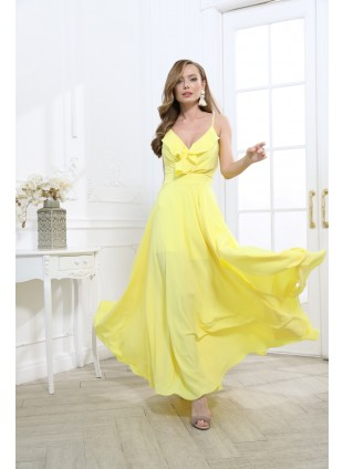 Langes Strandkleid mit Volants